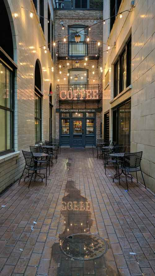 photo of coffee neon signage